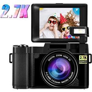 デジタルカメラ デジカメ ビデオカメラ カムコーダー ビデオブログカメラ 2.7K Wi-Fi フル...