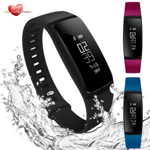 【翌日発送】スマートウォッチ 活動量計 心拍計 血圧測定 歩数計 IP67防水 Bluetooth4.0 スマートブレスレット USB充電|jackyled