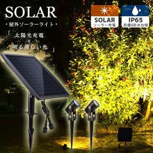 【翌日発送】ソーラー LED ライト  スポットライト 太陽光パネル充電 ガーデンライト 防犯対策IP65防水 15メートル照明距離 光センサー 自動点灯/消灯|jackyled