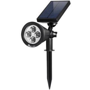 【翌日発送】ソーラーライト4LED ガーデンライト 防水 電池不要 夜間自動点灯 屋外の歩道/車道/芝生/庭などの照明用|jackyled