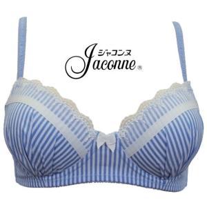 ノンワイヤーブラジャー 大きいサイズ  3/4カップ M L LL 3L 綿混 かわいい 肌にやさしい ブラ おやすみブラ 下厚 モールド ジャコンヌ jaconne【1158】|jaconne-store