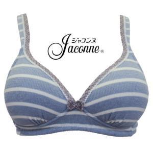 ノンワイヤーブラジャー 大きいサイズ  3/4カップ M L LL 3L 綿混 かわいい 肌にやさしい ブラ おやすみブラ 下厚 モールド ジャコンヌ jaconne【1153】|jaconne-store