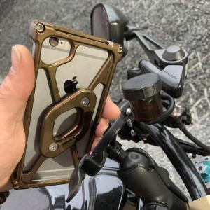 IPhone6,6S,7,8プロテクトバンパー標準色 アルミ削り出し アイフォン ケース RAM-Mount ラムマウント バイク クルマ 対衝撃 高剛性 jagerlauft