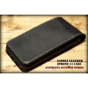 サドルレザーiPhone 11ケース(iPhone 11proでの製作も可)|jaindiana