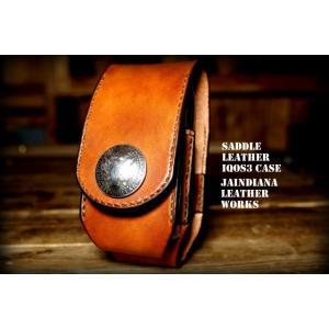 国産栃木サドルレザーにyear手染めによるビンテージ染めを施し、一針一針手縫いで製作したアイコス3ケ...