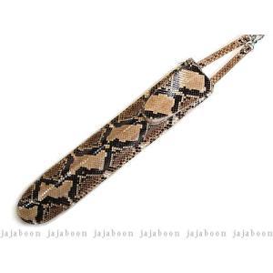 JAJABOON ドラムスティックケース スリム ダイヤモンドパイソン 蛇革+牛革(レザー)製