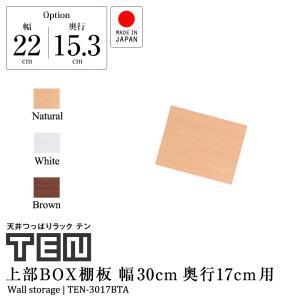 専用オプション品 天井つっぱりラックTEN専用 上部BOX用棚板 幅30cm奥行17cm 国産|jajan-a