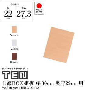 【専用オプション品】 天井つっぱりラックTEN専用 上部BOX用棚板 幅30cm奥行29cm 日本製 jajan-a