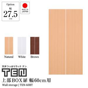 専用オプション品 天井つっぱりラックTEN専用 上部BOX用扉 幅60cm 国産|jajan-a