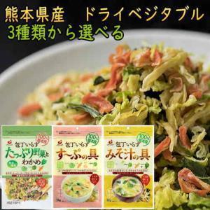 乾燥野菜 ミックス 国産 80g ドライベジタブル 熊本県産  包丁いらずたっぷり野菜とわかめ カットわかめ 干し野菜 保存食 ポイント 消化 メール便 送料無料
