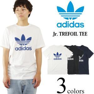 アディダス adidas ジュニア トレフォイル Tシャツ 米国流通モデル (JUNIOR TREFOIL TEE オリジナルス メンズ/レディース)|jalana