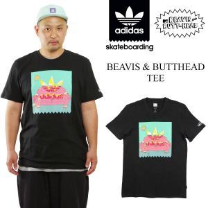 アディダス スケートボーディング adidas skateboarding 米国流通モデル ビーバス&バットヘッド 半袖 Tシャツ (B&BHT マイクジャッジ)|jalana