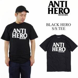 アンタイ ヒーロー / アンチ ヒーロー ANTI HERO ブラックヒーロー 半袖 Tシャツ (AH BLACK HERO)|jalana