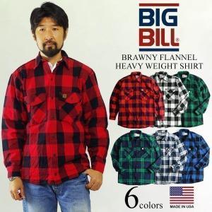 ビッグビル BIGBILL 121 ヘビーウェイト フランネルシャツ アメリカ製 米国製 カナダ製 (BRAWNY FLANNEL HEAVY WEIGHT SHIRT MADE IN USA)|jalana