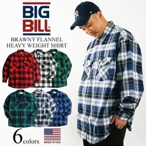 ビッグビル BIGBILL 121 ヘビーウェイト フランネルシャツ アメリカ製 カナダ製 大きいサイズ (米国製 BRAWNY FLANNEL HEAVY WEIGHT SHIRT MADE IN USA)|jalana
