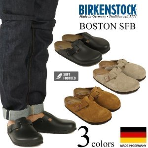 ビルケンシュトック BIRKENSTOCK ボストン ソフトフットベッド (メンズ/レディース BOSTON SFB ノーマルワイズ レギュラーフィット 幅広 普通幅 サンダル)|jalana