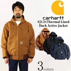 カーハート Carhartt J131 ダックアクティブジャケット サーマル裏地 (米国製 アメリカ製 Thermal-Lined Duck Active Jacket ワークジャケット)|jalana