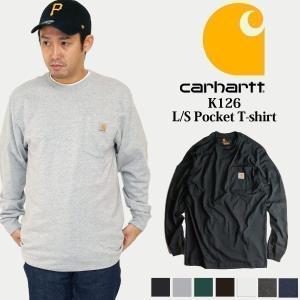 カーハート Carhartt K126 長袖 ポケット Tシャツ (ポケT ロンT ヘビーウエイト)|jalana