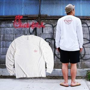 チックフィレイ Chick-fil-A オリジナル ポケットTシャツ 長袖 S-XXL メンズ ポケT ロンT 海外買い付け ご当地 jalana