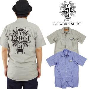 ドッグタウン DOG TOWN 半袖 ワークシャツ (半袖シャツ WORK SHIRT)|jalana