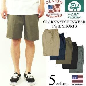 クラークス スポーツウエア(エリックハンター)  ツイルイージーショーツ BIG SIZE (大きいサイズ アメリカ製 米国製 チノショーツ CLARK'S ERICK HUNTER)|jalana