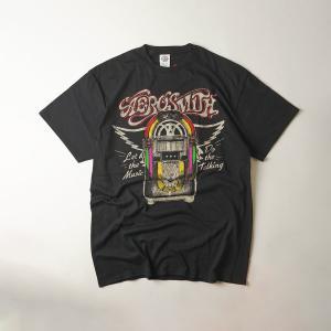 FEA Merchandise 半袖Tシャツ エアロスミス レット ザ ミュージック ジュークボックス ブラック(AEROSMITH LET THE MUSIC JUKEBOX バンドT)|jalana