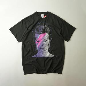 FEA Merchandise 半袖Tシャツ デビッドボウイ アラジン フォト ブラック(DAVID BOWIE ALADDIN PHOTO バンドT)|jalana