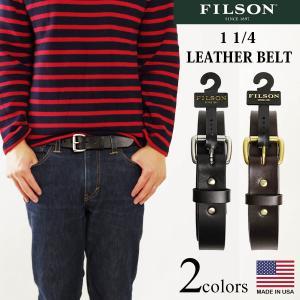 フィルソン FILSON 1 1/4インチ レザーベルト (アメリカ製 米国製 LEATHER BELT)|jalana