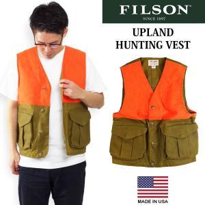 フィルソン FILSON アップランド ハンティングベスト (アメリカ製 米国製 MADE IN USA メンズ ベスト)|jalana