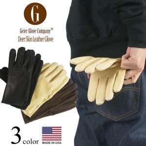 ガイヤーグローブ GEIER GLOVE #200 ディアスキン レザーグローブ (米国製 アメリカ製 Deerskin Glove 革手袋)|jalana