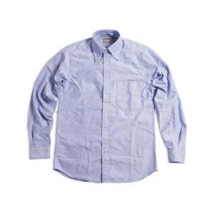 ギットマン ブラザーズ Gitman Bros. オックスフォード ボタンダウンシャツ ブルー (米国製 B.D OXFORD SHIRT 長袖)|jalana