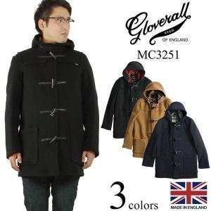 グローバーオール GLOVERALL MC3251 ミッドレングス ダッフルコート (防寒 英国製 メンズ ハーフ ショート)|jalana