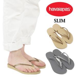 ハワイアナス havaianas レディース ビーチサンダル スリム サンドグレー/ライトゴールデン  (SLIM ビーサン)|jalana