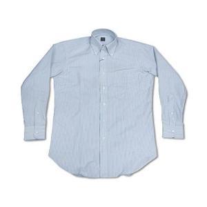 アイク ベーハー IKE BEHAR オックスフォード ボタンダウンシャツ ブルーストライプ (米国製 OXFORD B.D. SHIRT)|jalana