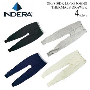 インデラミルズ INDERA MILLS 810DR/800DR LONG JOHNS サーマル アンダーウェア ボトムス (THERMALS DRAWER ワッフル 下着 メンズ)|jalana