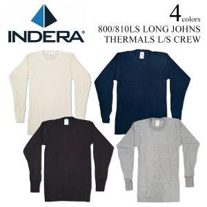 インデラミルズ INDERA MILLS 810LS/800LS LONG JOHNS サーマル アンダーウェア (ロンT THERMALS L/S CREW ワッフル 下着 メンズ)|jalana
