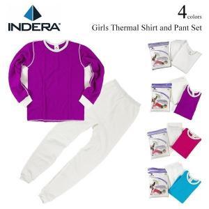 インデラミルズ INDERA MILLS ガールズアンダーウエアセット ホワイト (子供 女の子 レディース 女性用 インナー サーマル)|jalana