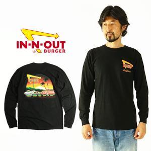 インアンドアウトバーガー 長袖 Tシャツ 2021 ア フレッシュ ニューイヤー ブラック メンズ S-XXL In-N-Out Burger ご当地Tシャツ ロンT 海外買い付け jalana