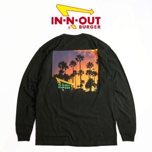 インアンドアウトバーガー 長袖 Tシャツ 2017 ブラック カリフォルニア ドリーミン ブラック メンズ S-XXL In-N-Out Burger ご当地Tシャツ ロンT 海外買い付け jalana