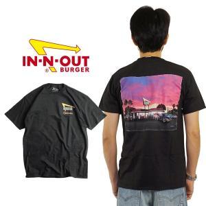 インアンドアウトバーガー 半袖 Tシャツ 2020 カリフォルニアサンセット ブラック (メンズ S-XXL In-N-Out Burger ご当地Tシャツ 海外買い付け)|jalana