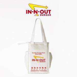 インアンドアウトバーガー ランチトート ホワイト (In-N-Out Burger ランチバッグ 海外買い付け)|jalana
