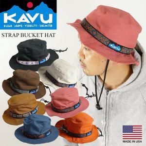 カブー KAVU ストラップ バケットハット(米国製 コットン キャンプ サファリ ハット ブーニー 帽子)|jalana