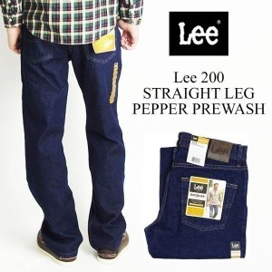 リー Lee #200 ストレート ジーンズ ペッパープリウォッシュ (STRAIGHT LEG JEAN PEPPER PREWASH)|jalana