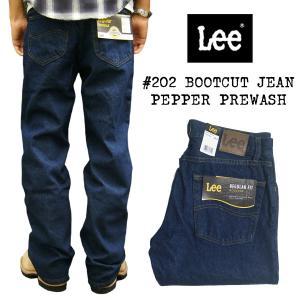 リー Lee #202 ブーツカット ジーンズ ペッパープリウォッシュ (BOOTCUT JEAN Pepper Prewash)|jalana