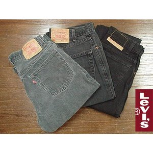 【中古】リーバイス LEVI'S USED 505 ブラック(デニム ジーンズ ジーパン ユーズド パンツ)|jalana