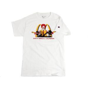 海外買い付け商品 マクドナルド 半袖Tシャツ ピアドナルド サンタモニカ店限定 別注チャンピオンベース ホワイト(Champion)|jalana