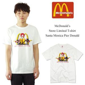 Tシャツ メンズ 半袖 マクドナルド サンタモニカ店限定 ピアドナルド ホワイト(McDonald's 海外買い付け商品)|jalana
