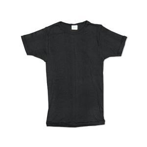 R.P.ミラー R.P. MILLER  半袖Tシャツ クルーネック ブラック (アメリカ製 米国製 BLACK パネルリブニット無地) jalana