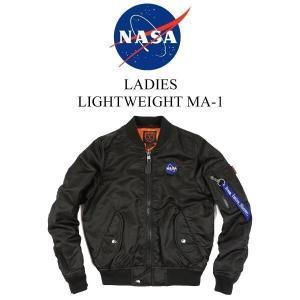 ナサ NASA X BRAVO by BURK'S BAY レディース ライトウエイト MA-1 フライトジャケット ■バンダナプレゼント■(MA1 女性 中綿なし)|jalana