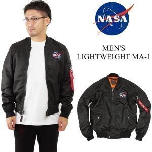 ナサ NASA X BRAVO by BURK'S BAY ライトウエイト MA-1 フライトジャケット ■バンダナプレゼント■(MA1 メンズ)|jalana